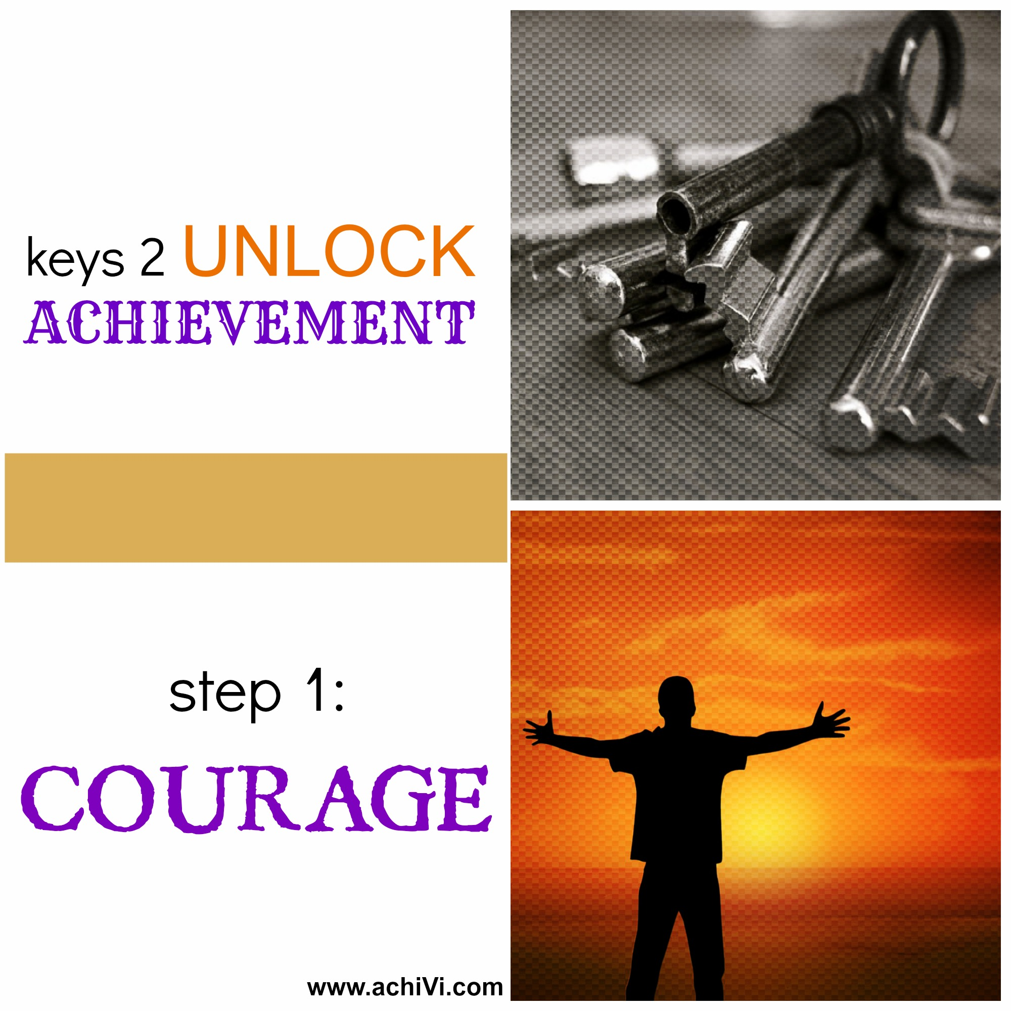 achiVi achievement key courage